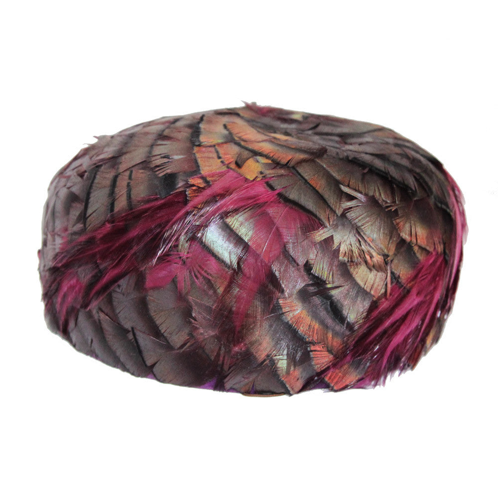 Beautiful vintage feathers hat of the 60s - Katheleys for Unique Vintage Luxury