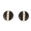 Yves Saint Laurent Vintage wood and crystal earrings