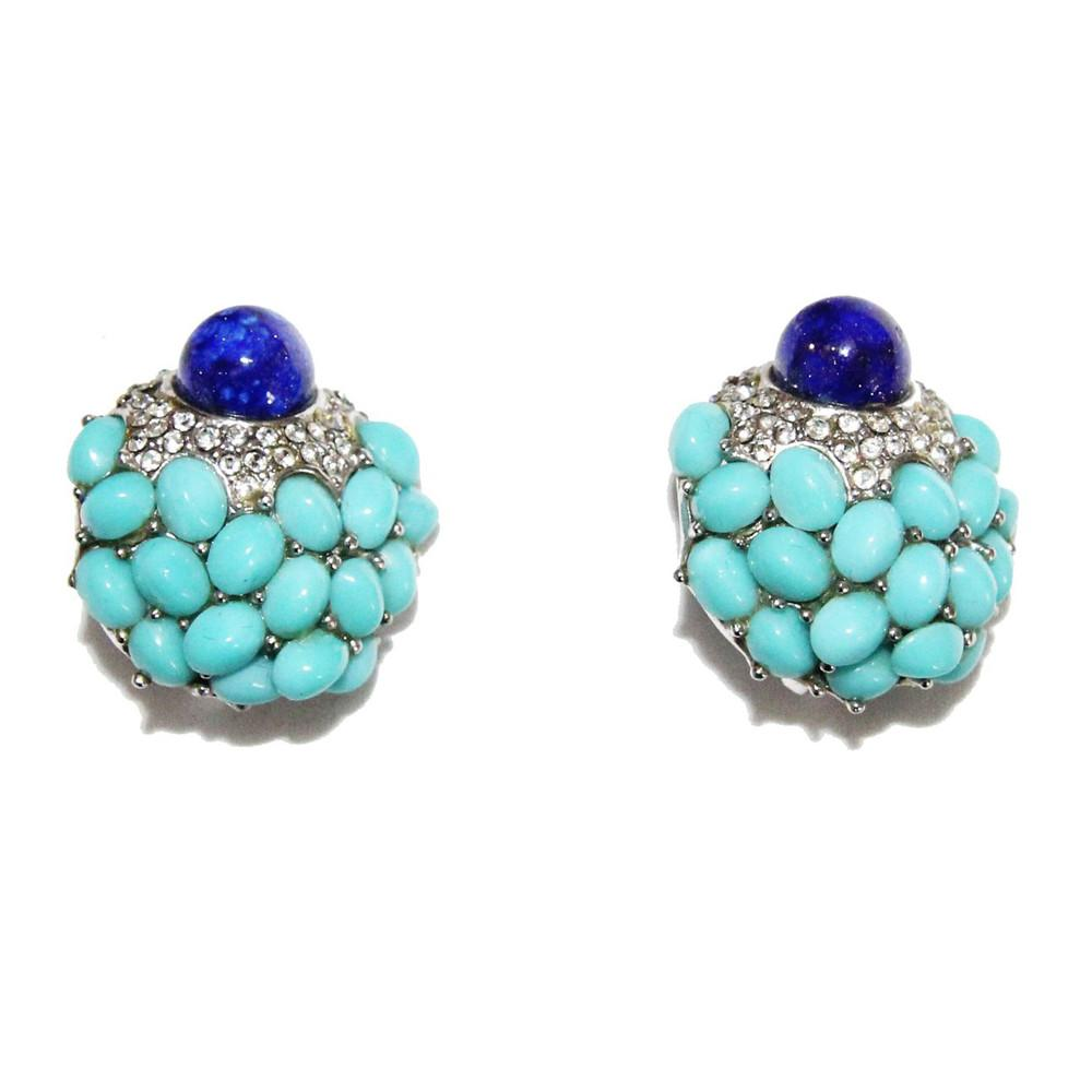 60s Glamour Boucher vintage turquoise earrings of the 60s