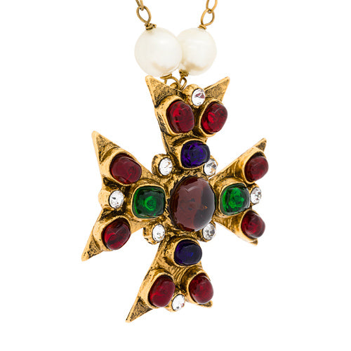 Chanel Maltesse Cross pendant c.1987 - Katheleys for Unique Vintage Luxury