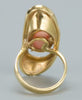 Italian vintage Angel Skin Coral Gold 18kt Ring 1970 - Katheleys for Unique Vintage Luxury