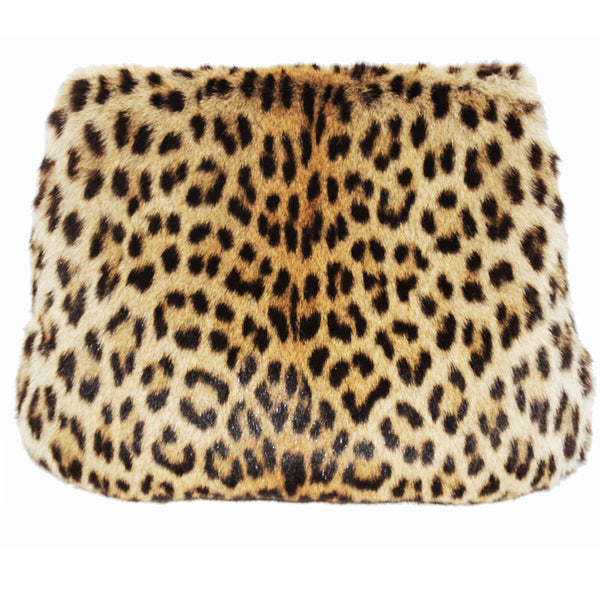 Exceptional leopard vintage muff collector
