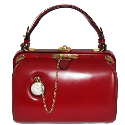 Unique Fernande Desgrange Red Clock bag 50s
