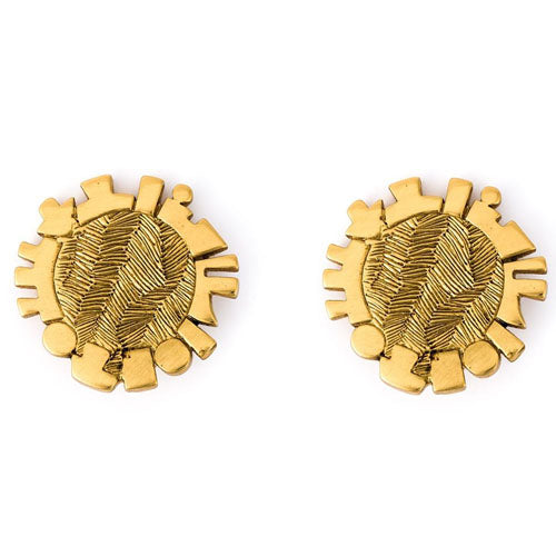 Jean-Louis Scherrer Disc Gold vintage earrings 80s
