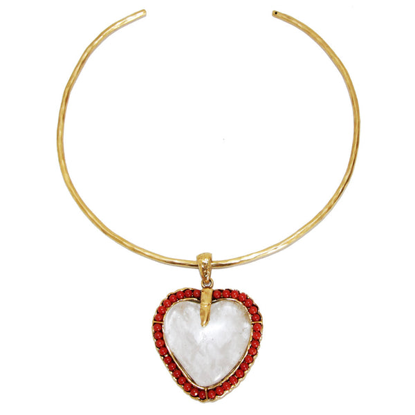 Rare Robert Goossens Paris vintage heart necklace of the 80s