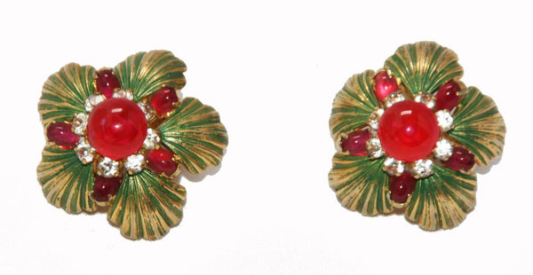 Gorgeous Vintage Christian Dior Collector Earrings 1967 - Katheleys for Unique Vintage Luxury