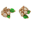 Exceptional Chanel Gripoix Flower Earrings