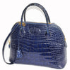 Fabulous Hermès Bolide vintage blue saphir Alligator Handbag 1995 - Katheleys for Unique Vintage Luxury