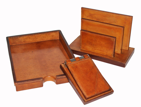 Hermès Vintage Dupré-Lafon Desk Set 1950 - Katheleys for Unique Vintage Luxury