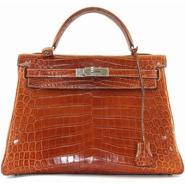388a4e3886f5e Hermes Kelly Barenia Croco bag 2006