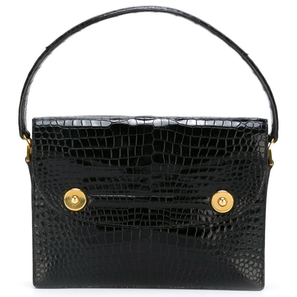 Exceptional Hermes Piano Crocodile handbag 60s