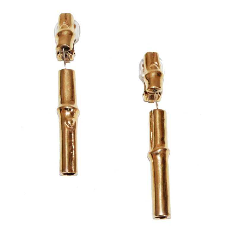 Vintage Hermes bamboo earrings collector