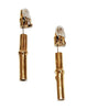 Fabulous Bamboo Hermès vintage earrings of the late 70s
