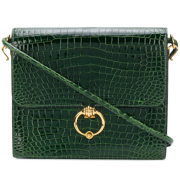 7591b18bd747 Hermès Séquana Model green croco handbag vintage collector - Katheleys for Unique  Vintage Luxury