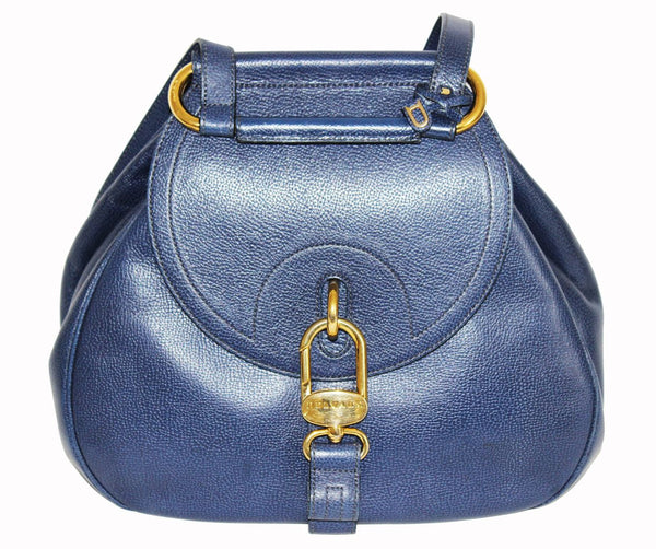 Gorgeous Blue Delvaux Backpack of the 80s - Katheleys for Unique Vintage Luxury