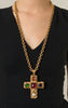 Stunning Chanel Haute Couture Cross Pendant 1980