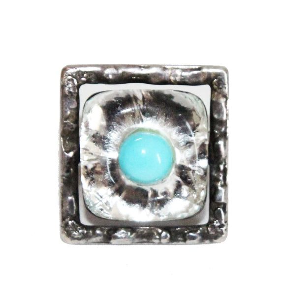 Rare Jacques Gautier turquoise ring of the 60s