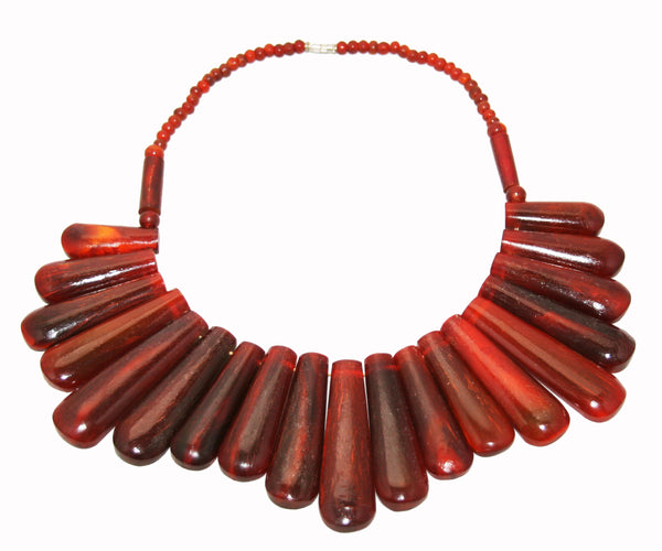Unique Resin Festoon Necklace 60s
