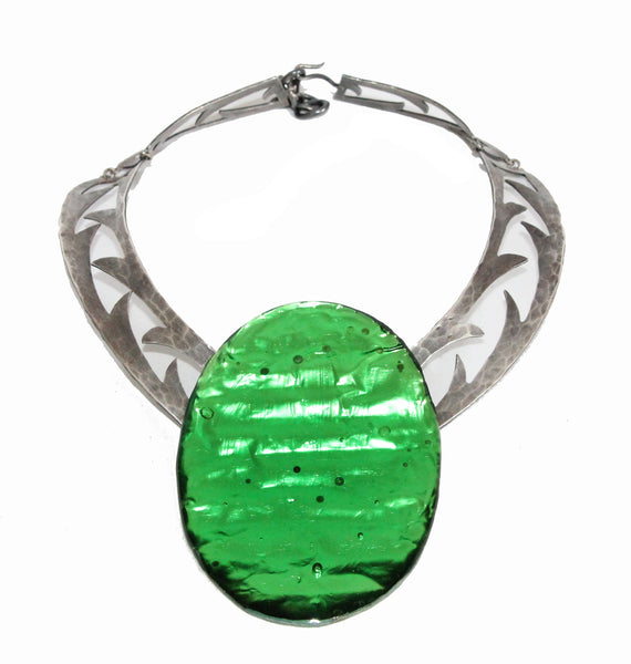 Unique Jacques Gautier Green Necklace c.1960