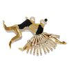 Exceptional & impressive Karl Lagerfeld dancers vintage brooch by Correani c.1980 - Katheleys for Unique Vintage Luxury