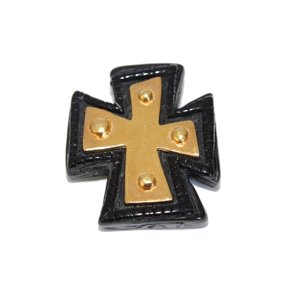 Rare & Gorgeous Christian Lacroix vintage cross brooch 90s