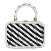 Unique 60s Black & White vintage handbag Hong-Kong