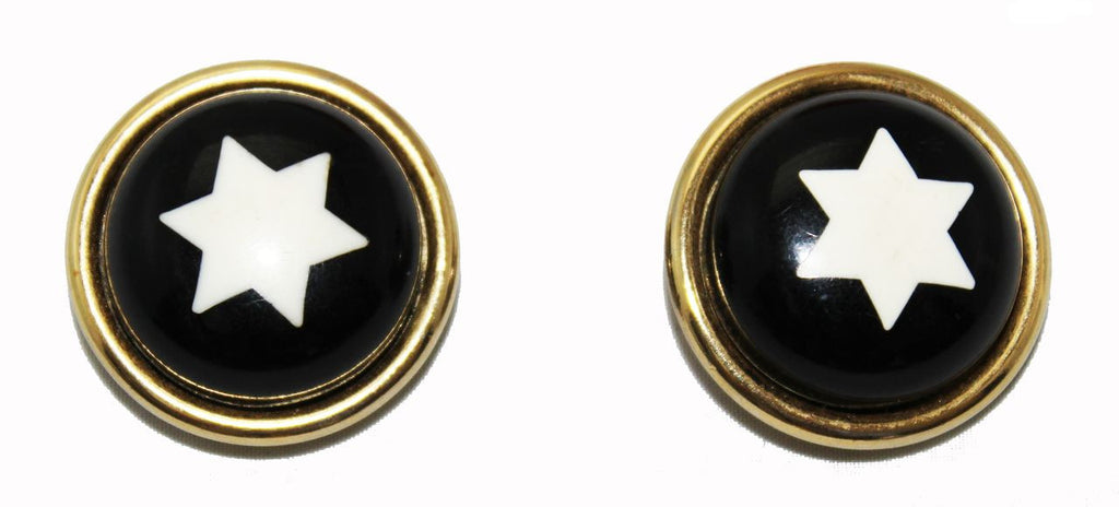 Collectable Moschino Stars Earrings 80s - Katheleys for Unique Vintage Luxury