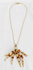 Paco Rabanne Vintage amber crystal pendant necklace of the 80s