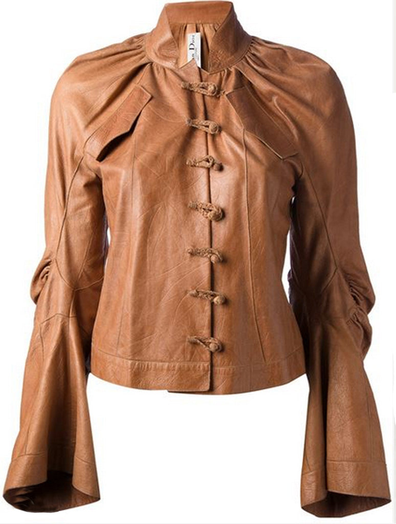 Sculptural Haute Couture Dior Leather Jacket by Galliano 2001