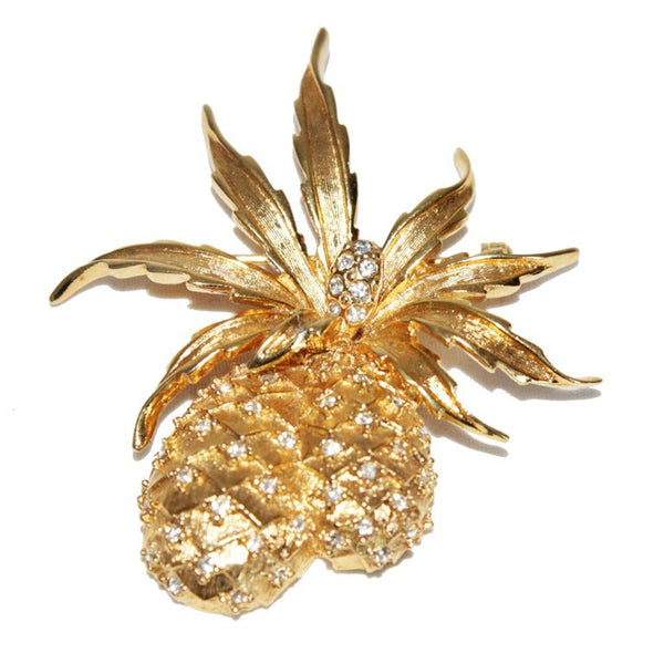 Gorgeous design for this double vintage pineapple brooch - Katheleys for Unique Vintage Luxury