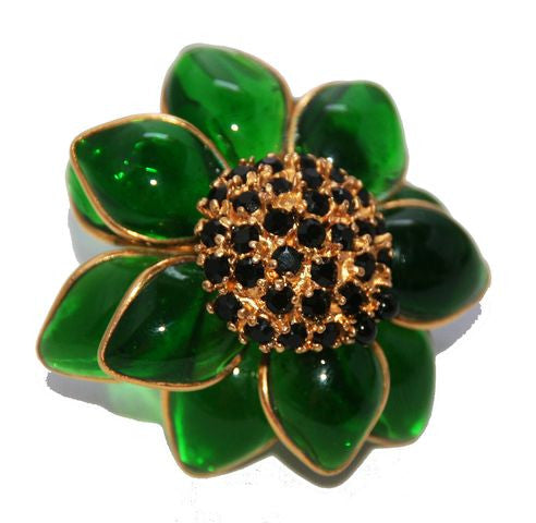 Exceptional Vintage Huge Gripoix Barbara Bui Ring 1990 - Katheleys for Unique Vintage Luxury