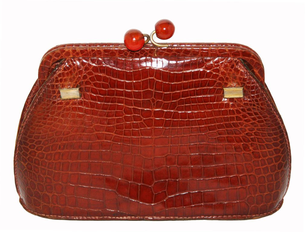 Unique Exceptional Crocodile Clutch 1940 - RESERVED