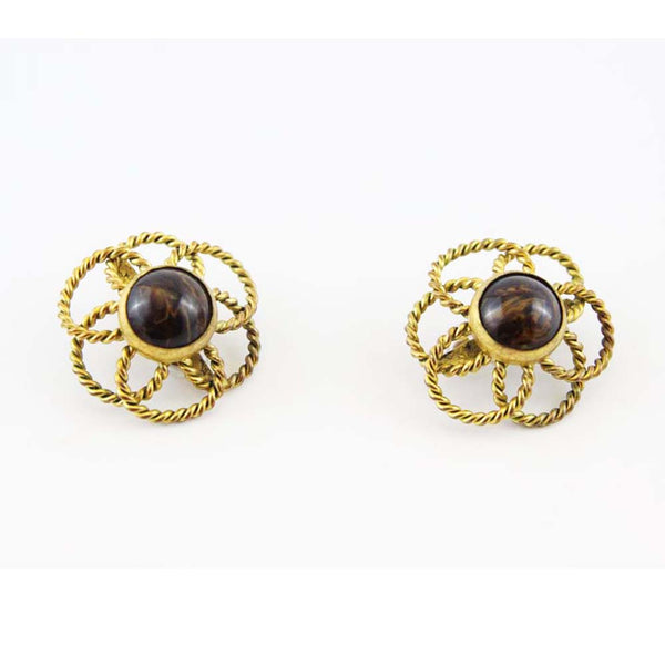YSL-by-roger-scemama-vintage-flower-earrings-c.1966-shop-katheleys-vintage-jewels