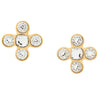 Yves Saint Laurent YSL crystal cross vintage earrings 80s