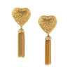 Yves Saint Laurent arabesque fringe heart earrings of the 80s