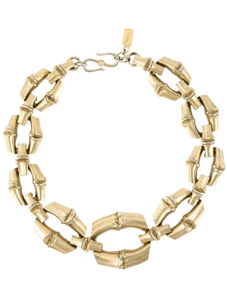Rare YSL Bamboo Vintage Necklace by R. Goossens 1980