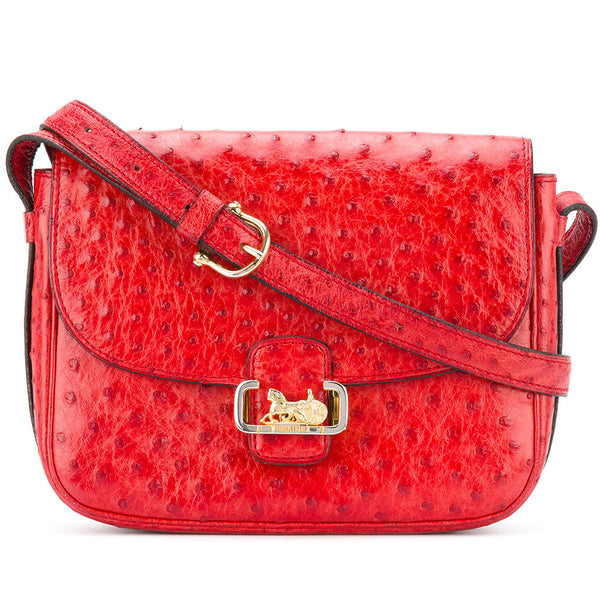 Céline Rare Red Ostrich leather bag 1968