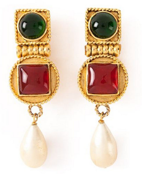 Rare Chanel Vintage Byzantine Earrings of the 80s