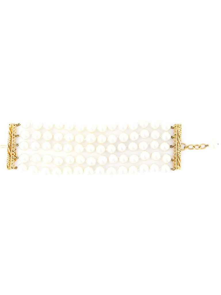 Chanel Vintage 5 strands of pearls bracelet 1980 - Katheleys for Unique Vintage Luxury