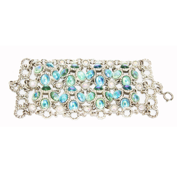 Gorgeous glamour and collectable Claire Dévé vintage bracelet of the late 80s