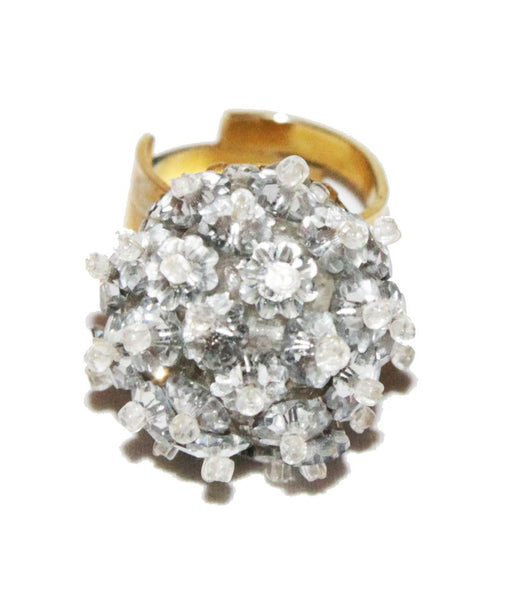 Rare Coppola e Toppo crystal ring of the 60s - Katheleys for Unique Vintage Luxury