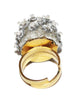 Rare Coppola e Toppo crystal ring of the 60s