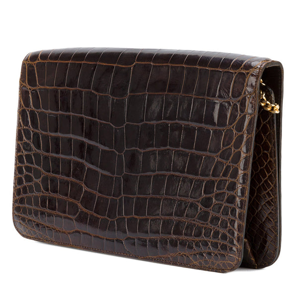 Christian Dior - brown crocodile leather bag – Katheley s Exclusive Vintage  Shop 7fe1bd9bb27e1