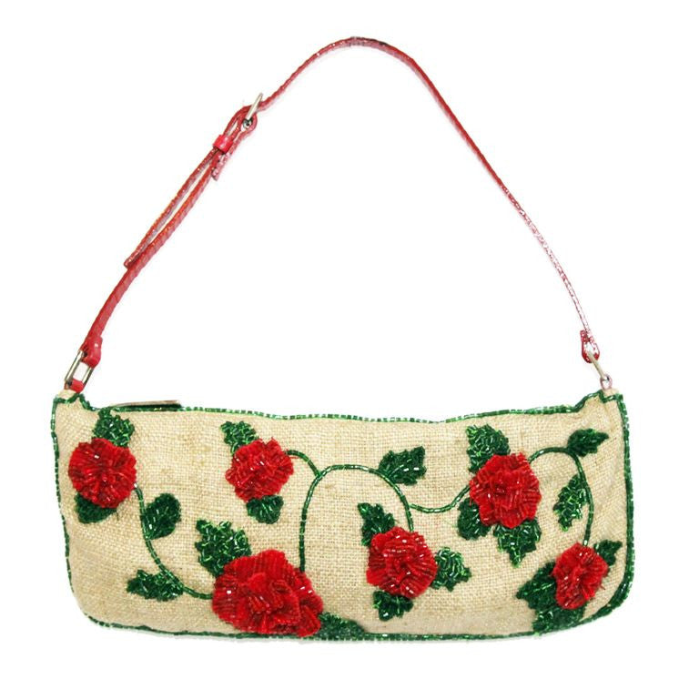 Gorgeous little vintage Valentino flowers bag of 2000