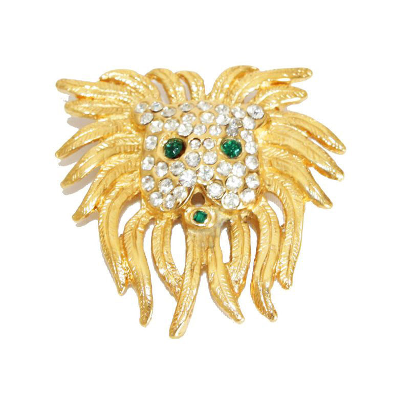 Unique vintage Lion brooch made for Céline late 70s