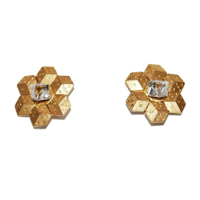 French couture vintage earrings Mercedes Robirosa 80s