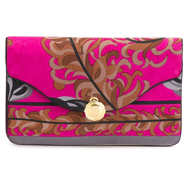 Emilio Pucci vintage collectable silk clutch 60s - Katheleys for Unique Vintage Luxury