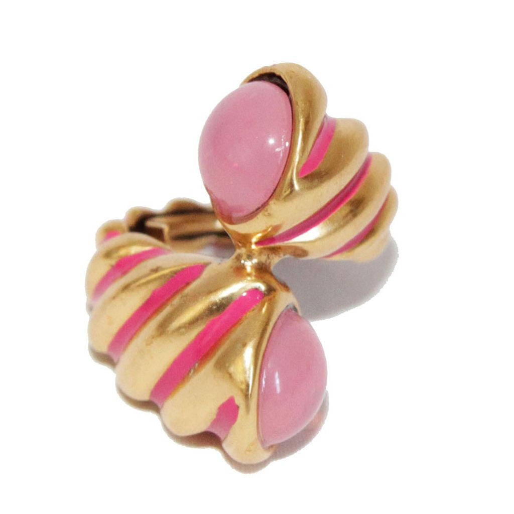 Oscar de la Renta vintage twisted ring of the 90s