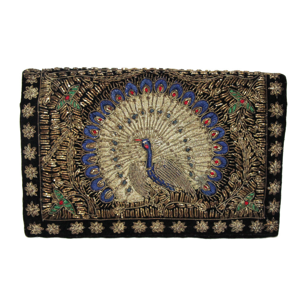 Unique and exceptional peacock clutch of the 30s
