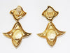 Unique French Vintage Stars Earrings 80s